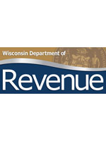 Wisconsin Department of Revenue logo with the state seal in the background